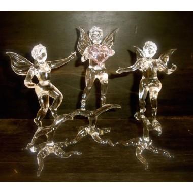 Ange et arc en verre