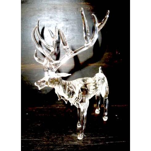 Cerf blanc en verre