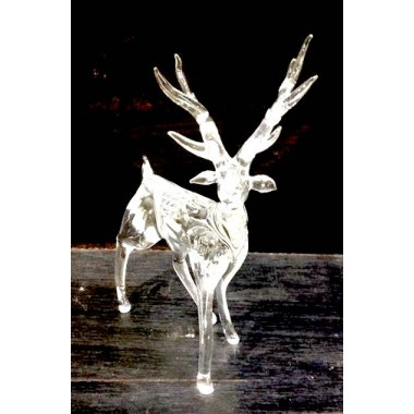 Cerf transparent en verre