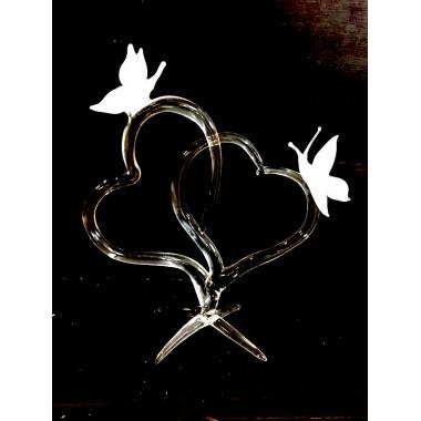 Papillons sur coeur