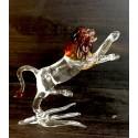 Lion en verre en verre