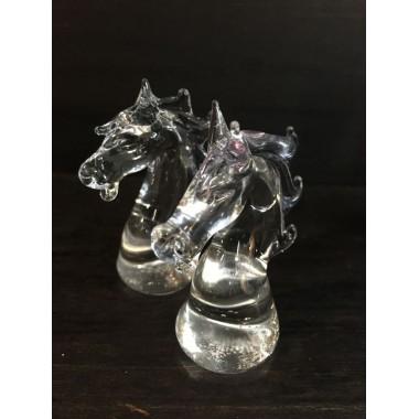 Le cavalier en verre