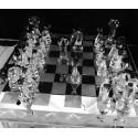 32 pièces de jeu d'échec en verre