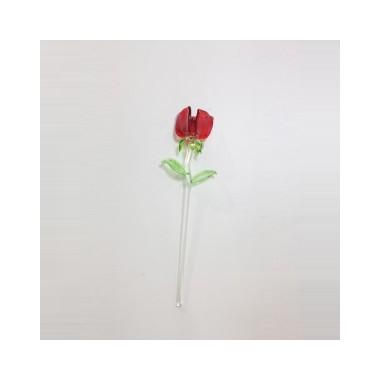 Petite rose en verre