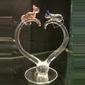 Coeur chat en verre