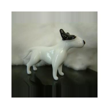 Chien Bull-Terrier en verre