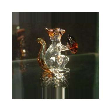 Petit écureuil en verre