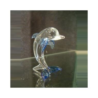 Dauphin courbé en verre