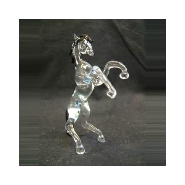 Cheval cabré en verre