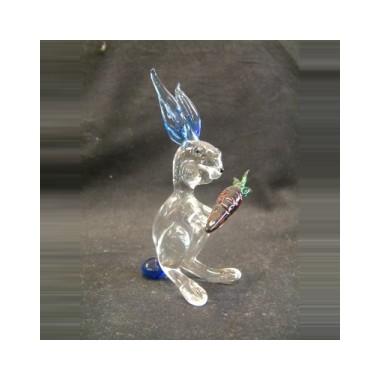 Grand lapin en verre