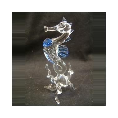 Hippocampe sur pied en verre