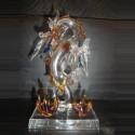 Dragon sur socle en verre