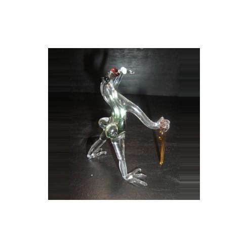 Grenouille frantaisie en verre