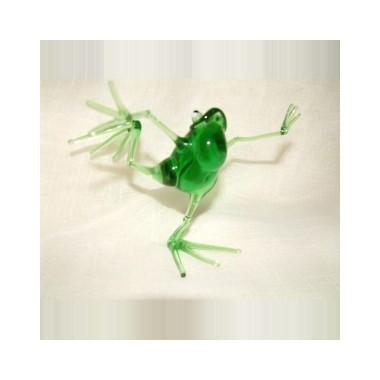 Grenouille dansante en verre