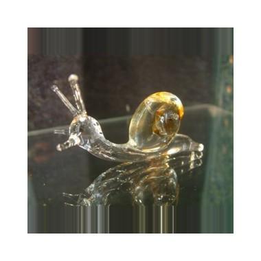 Petit escargot en verre