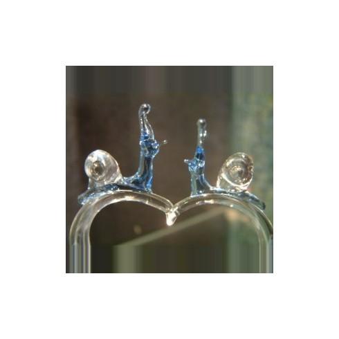 Escargot sur coeur en verre