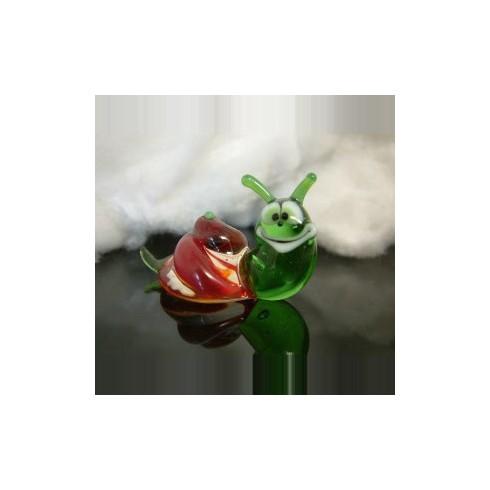 Escargot rigolo en verre