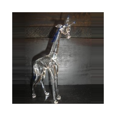 Grande girafe en verre