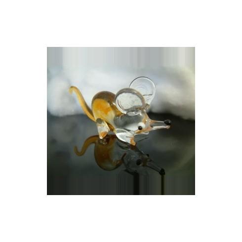 Souris transparente en verre