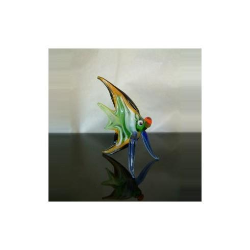 Poisson multicolor en verre