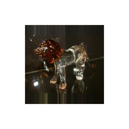 Lion transparent en verre