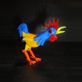 Coq coloré