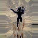Ange de la liberté en verre