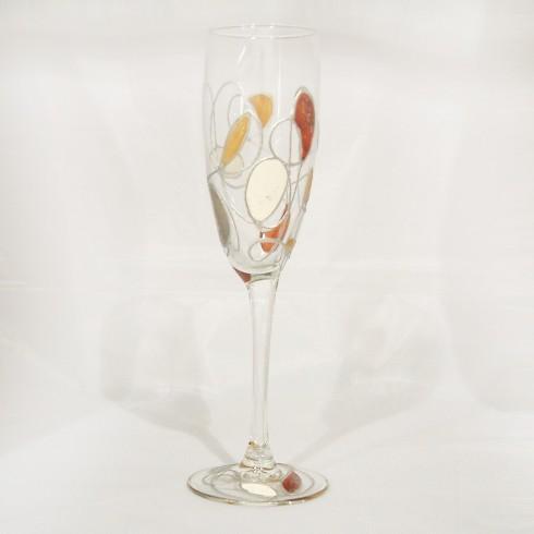 Flûtes à champagne peints à la main