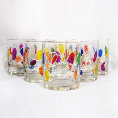 Grands verres à vin peints à la main