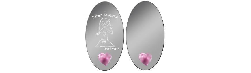 personnalisation en ligne -  Miroirs gravés -  Cristallerie de la Fontaine