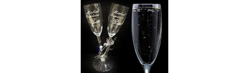 personnalisation en ligne -  Flûtes DUO amour -  Cristallerie de la Fontaine