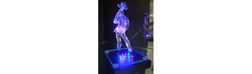 Articles -  Personnages en verre -  Cristallerie de la Fontaine