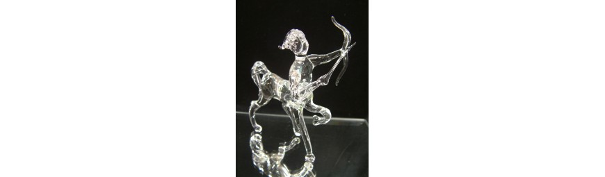 Articles -  Signes du zodiaque en verre -  Cristallerie de la Fontaine