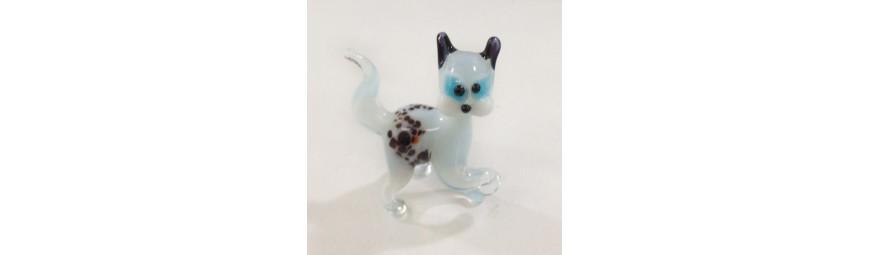 Animaux en verre -  Chat en verre -  Cristallerie de la Fontaine