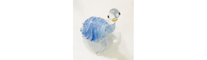 Animaux en verre -  Tortue en verre -  Cristallerie de la Fontaine