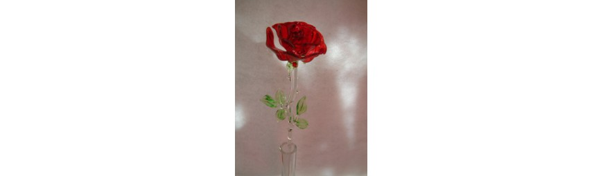 Articles -  Fleurs en verre -  Cristallerie de la Fontaine