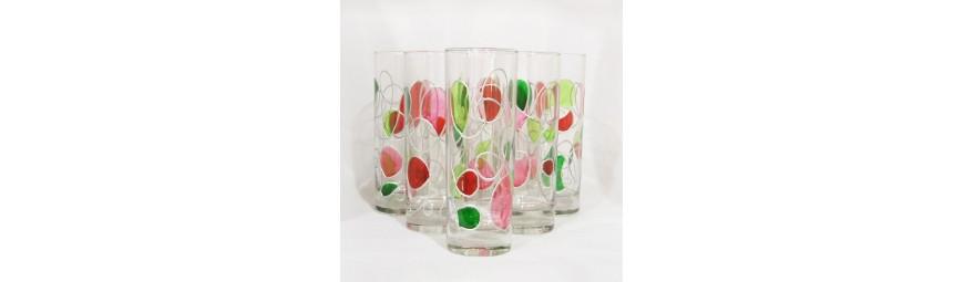 Services de verres -  Collection Cerise -  Cristallerie de la Fontaine